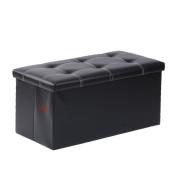 Lifeasy - PU Foldable Storage Ottoman Bench Foot Rest Stool Seat Footrest Shoe Storage Ottoman Cubes Bench