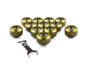PrimoChill 1.3cm . Rigid RevolverSX Series Fitting - Candy Gold - 12 Pack