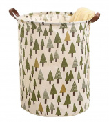 [Tree] Collapsible Cloth Laundry Basket Laundry Hamper Toy Storage Basket