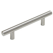 "Probrico Hole Spacing 96mm 4"" Stainless Steel Kitchen Cabinet T Bar Handle Diameter 12mm Drawer Pulls Knobs PD201HSS96"