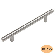 Probrico 10 X Brushed Nickel Stainless Steel Kitchen Cabinet T Bar Handle Furniture Drawer Pulls Cuoboard Knobs PD201HSS128