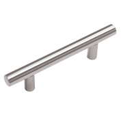 "Probrico Hole Spacing 76mm 3"" Stainless Steel Kitchen Cabinet T Bar Handle Diameter 12mm Drawer Pulls Knobs PD201HSS76"