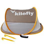 kilofly Flat Top Instant Pop Up Portable UPF 35+ Travel Baby Beach Tent + 2 Pegs