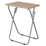 LIGHT TONE (PINE) FOLDING TABLE WOOD SNACKS LAPTOP TV GAMES SIDE END COMPACT COFFEE DESK TRAY NEW