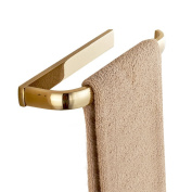 Weare Home Simple Gold Surface Finish in Brass Construction Bath and Toilet Retro and European Towel Bar Towel Holder Wall Mounted