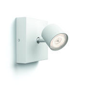 Philips myLiving Star WarmGlow Dimmable LED Spotlight, 1 x 4.5 W LED Light, Instant Start, Easy Installation - White