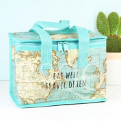 Vintage Map Insulated Recycled Plastic Lunch Bag