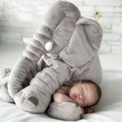 Tuohai Elephant Pillow with Blanket Toddler Soft Animal Pillow Baby Children Sleeping Cuddly Comfortable Plush Toys