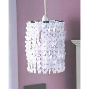 Girl's Bedroom Pendant Light Fitting Butterfly Chandelier - White