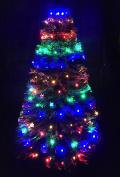 150 Multi Led Chasing Christmas Tree Net Light - For 0.2m Christmas Trees