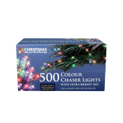 The Christmas Workshop 500 LED Chaser String Lights, Multi-Coloured