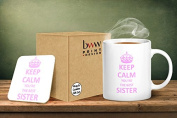Keep Calm You're The Best Sister Mug And Matching Coaster Set