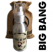 VETIVER STONE | BIG BANG 100ml Leave-In BEARD OIL Conditioner & SACK By BEARD of GOD | Organic & Natural Ingredients - Moisturises Beard Hair and Skin & Eliminates Itching and Dandruff