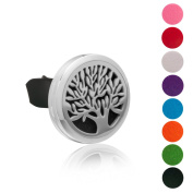 BESTTERN Stainless Steel Car Perfume Clips AC Vent Clip Air Freshener Essential Oil Diffuser Locket Family Tree