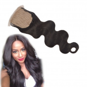 Dingli Hair Body Wave Silke Base Top Lace Closure 10cm x 10cm Free Part Brazilian Virgin Human Hair Closure Natural Colour