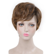 SiYi Men's Cosplay Wig Fantastic Beasts and Where to Find Them Light Brown Short Curly Style Hair