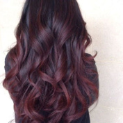 Fennell 8A Brazilian Human Hair Body Wave Burgundy Ombre Lace Front Wig With Baby Hair Human Hair Full Lace Wig 150% Density Ombre Wigs For Women