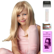 Miley (Childs Wig) by Amore, Wig Galaxy Hair Loss Booklet, 60ml Travel Size Wig Shampoo, Wig Cap, & Wide Tooth Comb (Bundle - 5 Items), Colour Chosen