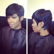 Vanessa Queen Human Hair Lace Front Wig For Black Women Brazilian Virgin Hair Short Wave Bob Wigs 6-20cm