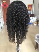 sunflowerhair 10a brazilian human hair kinky curly glueless lace front wigs  .   150density