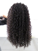 indian remy kinky curly glueless lace front wig for black women with baby hair