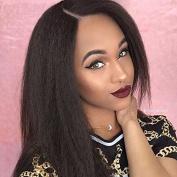Ten Chopstics Italian Yaki Straight Unprocessed Human Hair Lace Front Wigs Brazilian Virgin Hair Lace Front Wigs Front Lace Wig Bleached Knots for Black Women Natural Baby Hair
