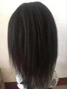 coarse yaki peruvian virgin hair lace front wig glueless lace front wig for black women