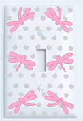 Pink Dragonfly Switch Plate Covers / Dragonfly Nursery Wall Decor
