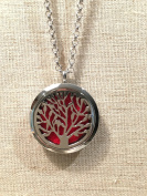 Essential Oil Diffuser Pendant By Baltic Essentials Tree of Life Necklace Pendant & 70cm Chain Made Of 316L Surgical Stainless Steel Material- Washable Absorbent Pads Fresh Smell & Aromatherapy