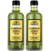 Village Naturals Aches and Pains Muscle Relief Foaming Bath Oil and Body Wash 470ml 2 pack