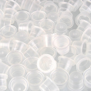 Beauty7 100PCS Plastic Small 9mm Tattoo Ink Cups Caps Tattoo Pigment Supplies for Needle Tip Grip