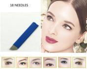 Pinkiou 50 Pcs Microblading Blade Permanent Makeup Manual Eyebrow Tattoo Needle Pin Bevel