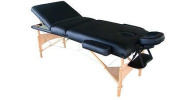 Exaceme Luxury 200cm Long Three Section 10cm Pu Portable Massage Table/bed with Carry Case Sl34 Black/blue/rose/purple