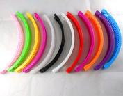 12 pcs Banana Hair Clip Claw Comb Multi colour .