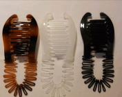 3 pcs NEW VINTAGE LARGE COMB BANANA CLIP HAIR RISER CLAW