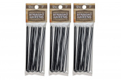 3 Pack 7.6cm Inch Straight Stainless Steel Heavy Duty Snagless Hairpins (36 PINS) Handmade Hair Pin