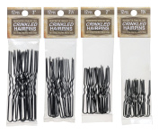 Crinkled Hairpin Variety Stainless Steel Heavy Duty Snagless Hairpins 4 Packs of 12 Handmade Hair Pin