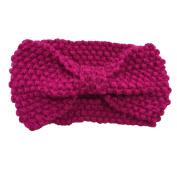 WIIPU Women Knitted Bow Headband Crochet Hairband Winter Ear Warmer Headwrap