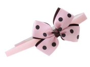 Lovely Pink & Brown Bowknot Head Band Hoop Accessory For Girls Under 10
