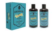 Pursonic Organic Moroccan Argan Oil Repair Shampoo & Conditioner Set (2x470ml), Argan Oil, Vitamin E,Hair Strengthening Keratin, Volumizing & Moisturising, Gentle on Curly & Colour Treated Hair, Unisex