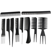 ROSENICE Professional Salon Hair Styling Combs Hairdresser Accessories Tools Set - 10 Pieces