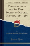 Transactions of the San Diego Society of Natural History, 1985-1989, Vol. 21