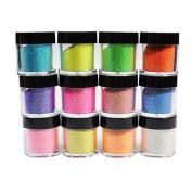 Warm Girl 12 Colours Pro Shiny Glitter Powder Dust Acrylic Nail Art Tip