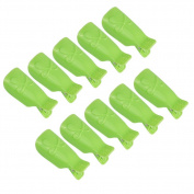 Beauty Clubs 10PCS Wearable Finger Nail Art UV Gel Polish Remover Wrap Cleaner Clip Cap