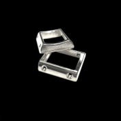 BEAD FRAME RECTANGLE 2-strand SPACER BAR PEWTER jewellery FINDING COMPONENT 12pcs