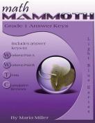 Math Mammoth Grade 1 Answer Keys