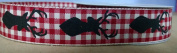 Deer Head Buck Red & White Plaid Ribbon 2.2cm x 2.7m