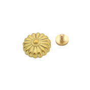 Solid Brass Conchos Flower Leather Craft Rivet Stud Star Punk Screw Back Button 1Pc