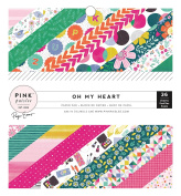American Crafts 310517 Paige Evans Oh My Heart Paper Pad 15cm X 15cm 36 Sheet Paper Pad