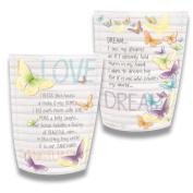 Paper Lantern ~ Light Up ~ BLESS THIS HOUSE ~ By Lisa Pollock ~ Battery